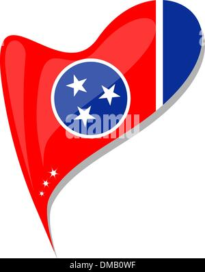tennessee flag button heart shape. vector - Stock Photo