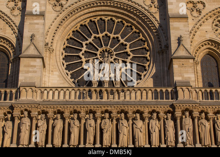 CATHEDRAL NOTRE-DAME DE PARIS IS SITUATED ON THE ILE DE LA CITE IN THE HISTORIC CENTRE OF PARIS, THE CATHEDRAL IS - Stock Photo