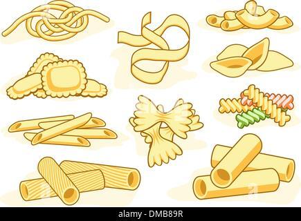 Pasta shape icons - Stock Photo