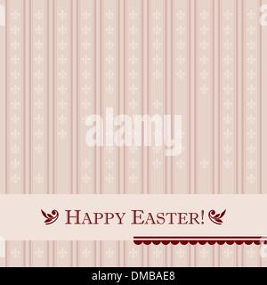 Vintage easter card (vector) - Stock Photo