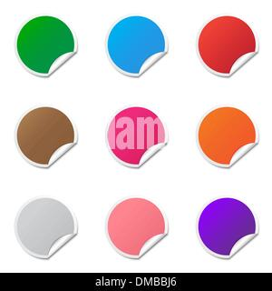 Blank stickers - Stock Photo