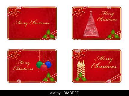 Christmas greeting cards - Stock Photo