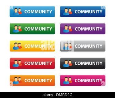 Community buttons - Stock Photo
