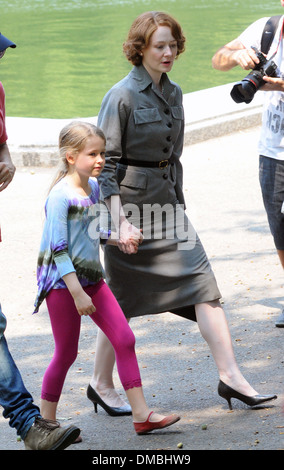 Miranda Otto on set of 'The Art of Losing' in Central Park New York City USA - 17.08.12 - Stock Photo