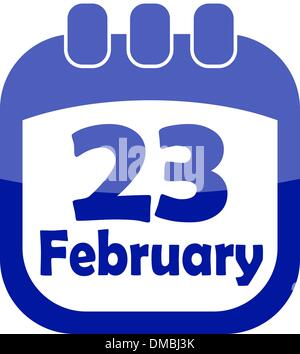 icon for February 23 calendar - Stock Photo