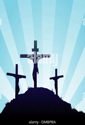 Jesus on the cross illustration - Stock Photo