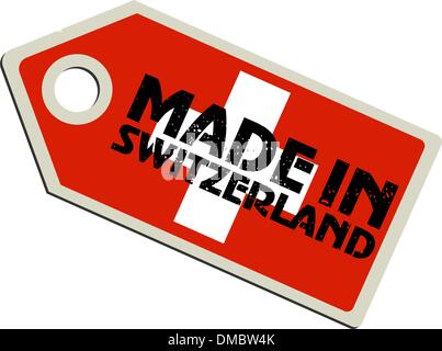vector label Made in Switzerland - Stock Photo
