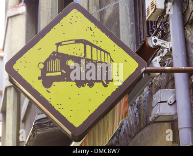 sudamerica signal bus stop - Stock Photo