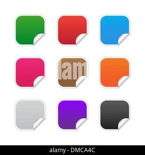 Colorful square labels - Stock Photo
