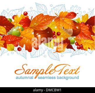 Vector Autumnal frame - Stock Photo