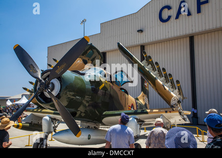 A Douglas A-6 Skyraider at The Wings over Camarillo Air Show In Camarillo California - Stock Photo