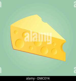 Slab Of Cheese - Stock Photo