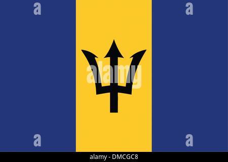 Flag of Barbados - Stock Photo