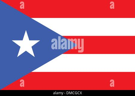 Flag of Puerto Rico - Stock Photo