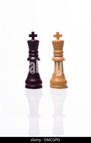 Two kings; Chess pieces - Stock Photo
