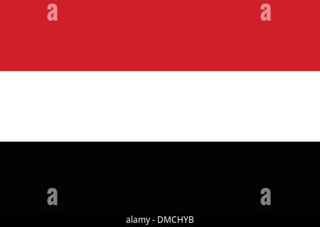 Flag of Yemen - Stock Photo