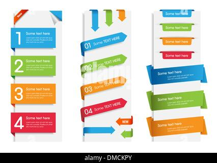 Colorful Web Stickers, Tags and Labels - Stock Photo