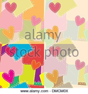 Seamless background from a patch - Stock Photo