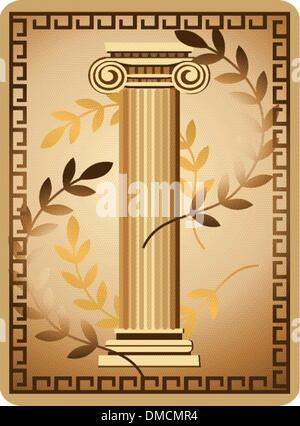 Antique Ionic Column - Stock Photo