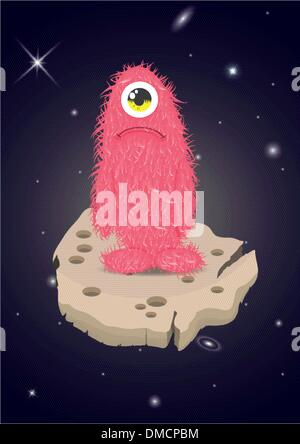 Alien Lost in Space Sad Monster - Stock Photo