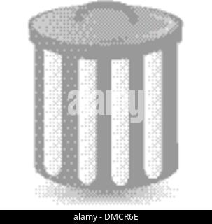 dust bin container trash can - Stock Photo
