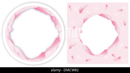 Circle Torn Paper on CD and DVD Template - Stock Photo
