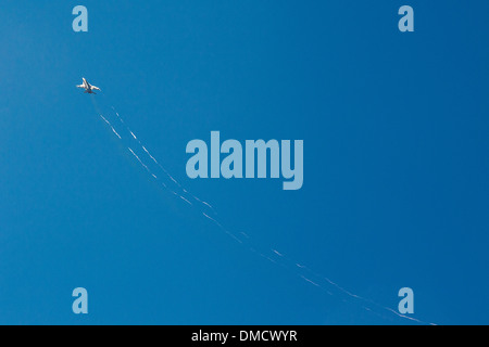 F-15 accelerating At the Wings Over Camarillo Airshow in Camarillo California in August of 2011 - Stock Photo