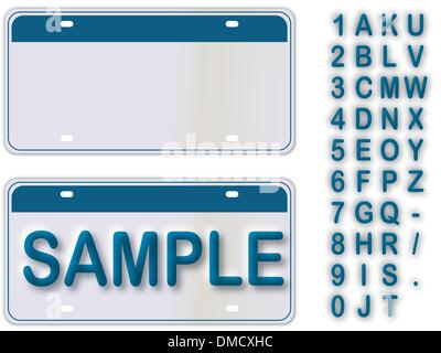 Empty License Plate New York With Editable Live Text - Stock Photo