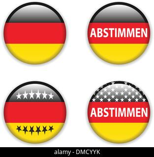 empty vote badge button for germany elections - Stock Photo