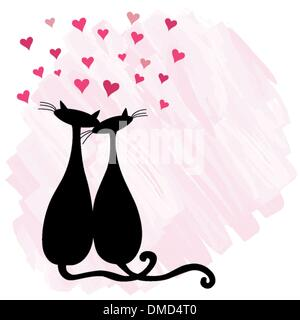 Cats in love - Stock Photo