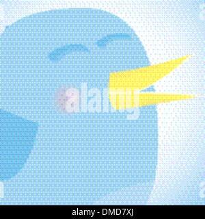 Social network blue bird, media concept.