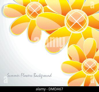 Abstract  glass flower pattern. Vector illustration - Stock Photo