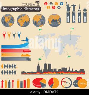 Infographics. Tourism and Travel - Stock Photo