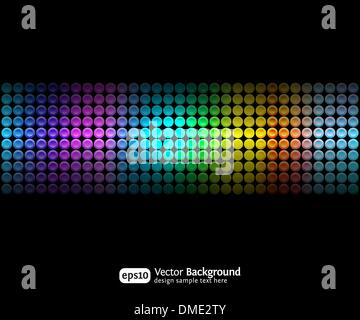 Black party abstract background with color gradients - Stock Photo
