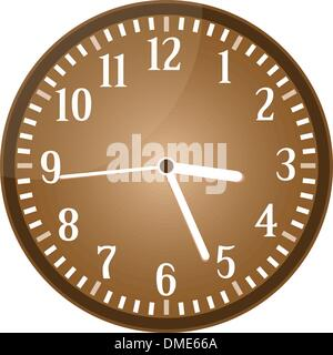 Vintage clock grunge isolated on background vector - Stock Photo