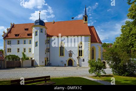 St. John the Baptist Church in Iphofen, Kitzingen district, Lower Franconia, Bavaria, Germany - Stock Photo