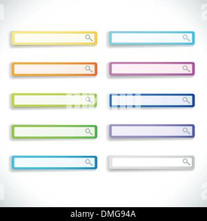 Set of color search bars - Stock Photo