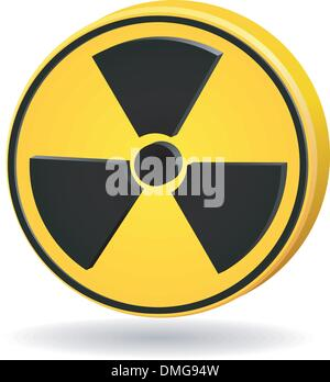 3d sign radiation. vector - Stock Photo