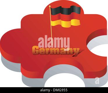 Vector illustration of puzzle with a flag of Germany - Stock Photo
