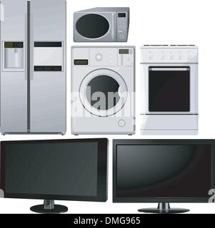 set of of household appliances. vector - Stock Photo