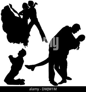 Dance Silhouettes - Stock Photo