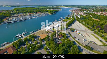 View over Travemünde, Schleswig-Holstein, Germany - Stock Photo