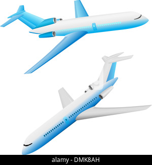 aerial, aeroplane, air, aircraft, airline, airliner, airplane, airport, aviation, charter, communication, delivery, - Stock Photo