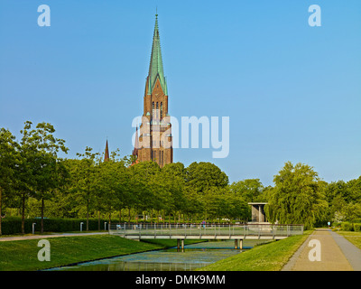 St. Peter Cathedral in Schleswig, Schleswig-Flensburg District , Schleswig-Holstein, Germany - Stock Photo