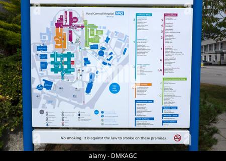 Treliske Hospital Map Royal Cornwall Hospital NHS Site Map Stock Photo: 64349615   Alamy Treliske Hospital Map
