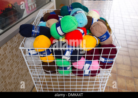 Brightly Colored balls of wool Knitting - Stock Photo