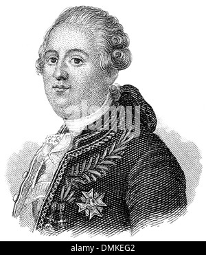 Louis XVI. Augustus of France, 1754 - 1793, King of France and Navarre, French Revolution - Stock Photo