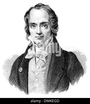 Jean-François Casimir Delavigne, 1793 - 1843, French poet and dramatist, - Stock Photo