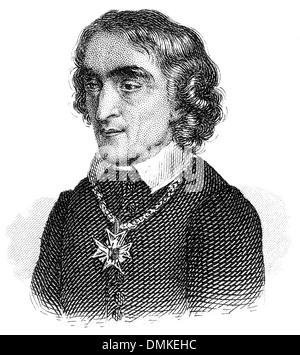 portrait of Friedrich Ludwig Zacharias Werner, 1768 - 1823, German poet, dramatist, and preacher - Stock Photo