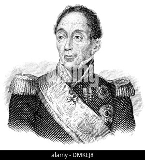 portrait of Emmanuel de Grouchy, 2ème Marquis de Grouchy, 1766 - 1847, French general and marshal, - Stock Photo